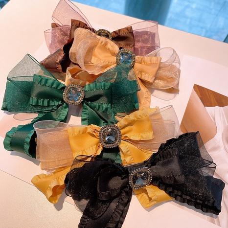 Korea organza big bow hair clip wholesale NHHD326855's discount tags