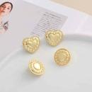 Fashion Round Heartshaped Stud Earrings  NHGO326919