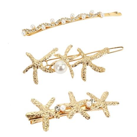 fashion alloy pearl diamond hair clip NHCT326924's discount tags