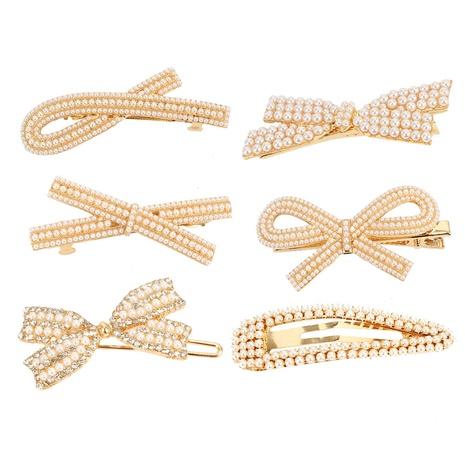 fashion retro alloy inlaid pearl headband NHCT326923's discount tags