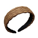 Bandeau en tissu coren Accessoires pour cheveux de couleur unie NHAR326933