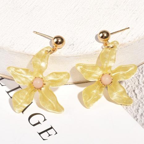 Korean flower pearl earrings wholesale NHAQ326939's discount tags