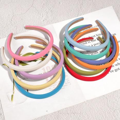 Korea Fashion Candy Color Schwamm Stirnband NHAQ326943's discount tags