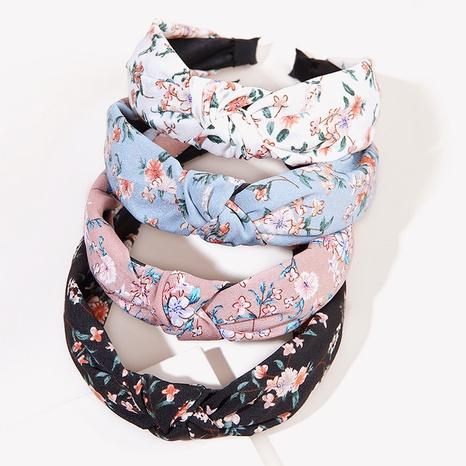 fashion retro chiffon printing floral headband NHGE326957's discount tags