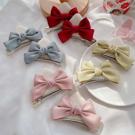 Korea bow plush hairpin wholesale NHCQ327000's discount tags