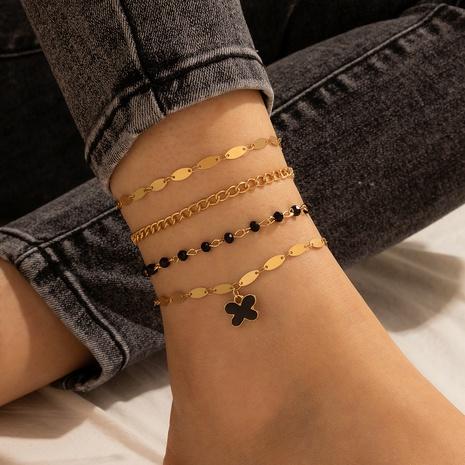 Retro runde Perle Schmetterling Anhänger Legierung Fußkettchen Set NHGY327074's discount tags