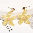 NHAQ1509577-Yellow-flower-pearl-earrings