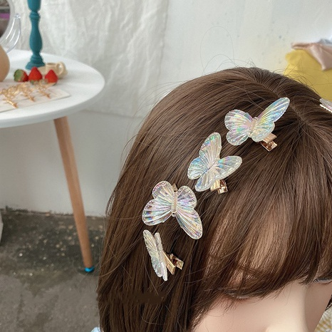 Fashion colorful butterfly hairpin wholesale NHDM326574's discount tags