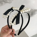 Korean pearl bow thin side hairpin NHSM326691