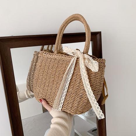 Fashion straw woven messenger portable bag NHWH327156's discount tags