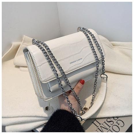 Bolso cuadrado del mensajero del hombro del modelo del cocodrilo de la cadena de la moda NHWH327181's discount tags
