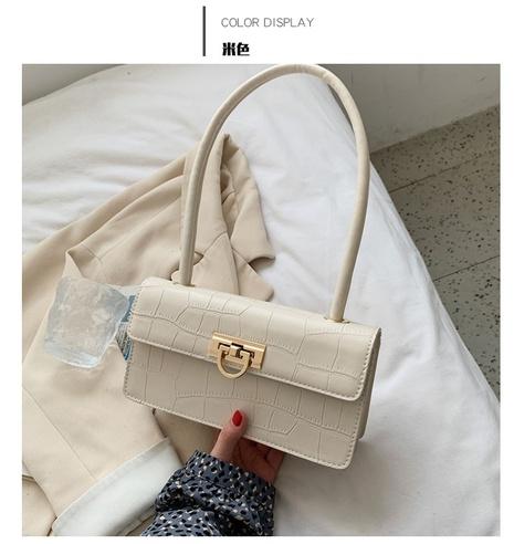 Bolso de hombro con estampado de piedra de moda NHWH327218's discount tags