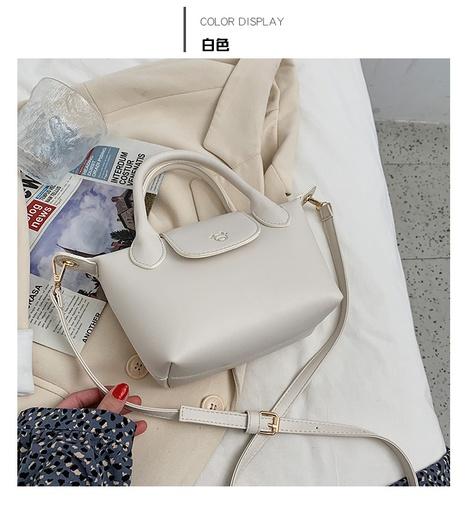 Bolso de mensajero de hombro de cadena de color sólido de moda NHWH327220's discount tags