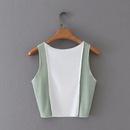 wholesale fashion contrast color top line vest  NHAM327327