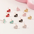 NHNU1512483-Mixed-color-peach-heart-earrings-12-combinations