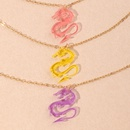 collier de dragon de mode simple NHNU327661