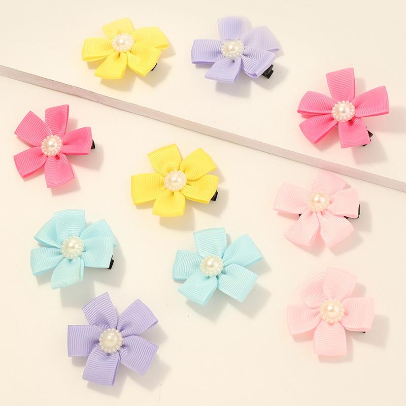 Ensemble de pinces  cheveux fleurs mignonnes pour enfants corens NHNU329128
