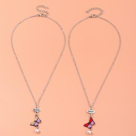 collar de mariposa hueco colgante de diamantes de moda NHNU329779's discount tags