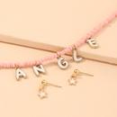 Collier pendentif coquillage papillon avec perles de riz bohme NHNU329778