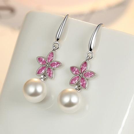 Korea fashion flower pearl earrings  NHKL327454's discount tags