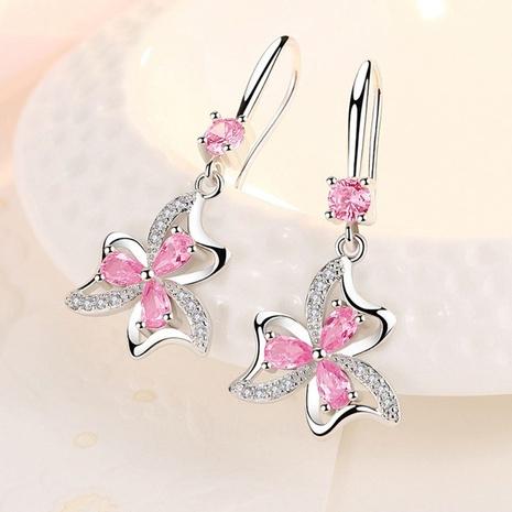 fashion simple butterfly Love Flower Earrings  NHKL327476's discount tags