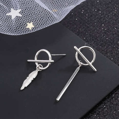 S925 reines Silber koreanische Mode asymmetrische Knopf Ohrringe NHKL327497's discount tags