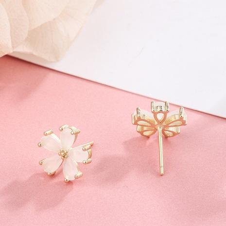 new korean S925 silver flower earrings NHKL327498's discount tags