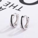S925 Sterling Silver Black drop earrings NHKL327522