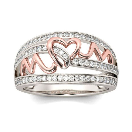 new fashion heart mom ring  NHKL327530's discount tags