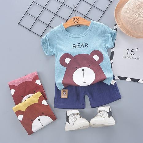 Lindo oso de algodón 80-110cm traje de pantalones cortos de manga corta de verano para niños al por mayor NHWU327631's discount tags
