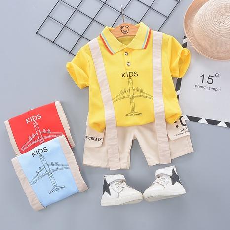 Moda KIDS avión lindo algodón de manga corta 80-120cm traje de verano para niños al por mayor NHWU327628's discount tags
