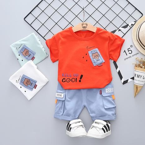 Moda botella algodón de manga corta 80-120cm traje de verano para niños al por mayor NHWU327621's discount tags