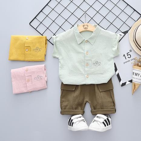 Moda de dibujos animados animal elefante puro algodón de manga corta 80-120cm traje de verano para niños al por mayor NHWU327608's discount tags