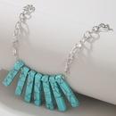Retro Turquoise Pendant Necklace NHGY328300