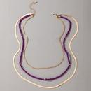 fashion trendy handmade beaded purple necklace NHGY328299