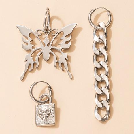 Hot Style Hohl Phoenix Schmetterling Schloss geformte Ohrringe Set NHGY328297's discount tags