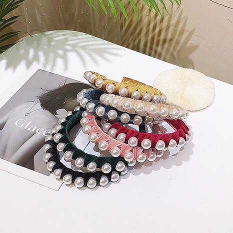 einfache Mode Perlen Stirnband NHWB327694's discount tags