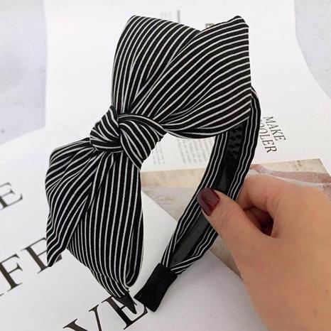 Kariertes Haarband der koreanischen Modebogenstreifenstreifen NHWB327728's discount tags