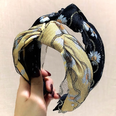 Korean fashion knotted headband NHWB327734's discount tags