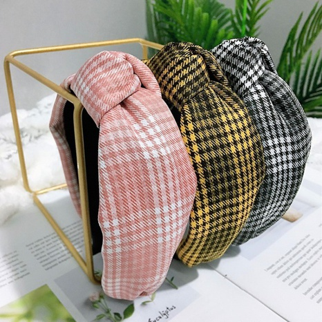 neues koreanisches Mode-Plaid-Haarband NHWB327736's discount tags