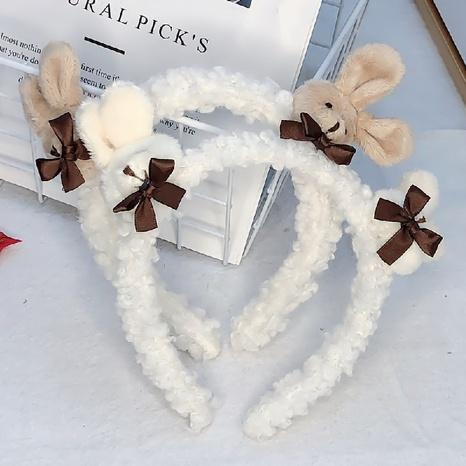 Korea niedlichen Kaninchen Plüsch Haarband NHWB327742's discount tags