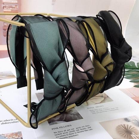 Koreanische Mode Netz Garn reine Farbe Haarband NHWB327744's discount tags