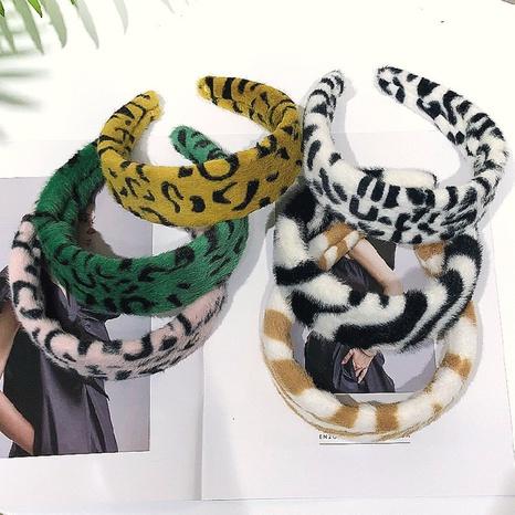 Koreanische Mode Leopardenmuster Nachahmung Kaninchen Stirnband NHWB327754's discount tags