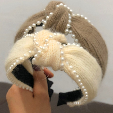 Koreanische Mode Wollknoten Perle Haarband NHWB327755's discount tags