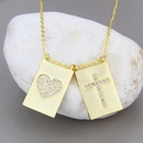 collier croix carr en zirconium blanc NHBP327805
