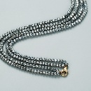 simple crystal doublelayer sweater chain  NHLN327820