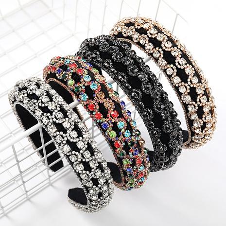 modisches, mit Diamanten besetztes Strassschwamm-Stirnband NHJE327825's discount tags