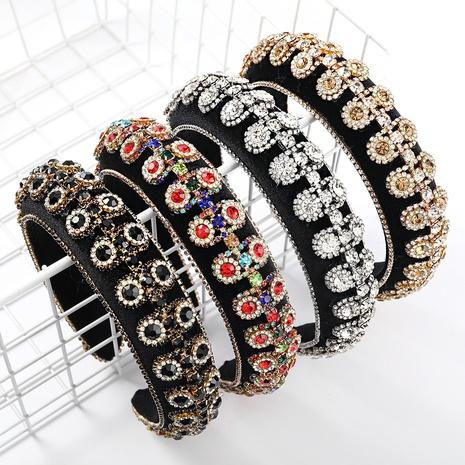 New Fashion mehrschichtige Strassblume Stirnband NHJE327838's discount tags