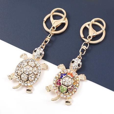 einfacher, mit Diamanten besetzter Schildkröten-Schlüsselbund aus Aluminium NHJE327836's discount tags