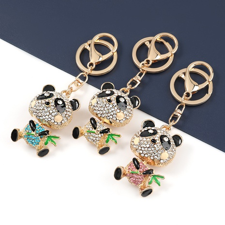 llavero panda gigante come diamantes de aleación NHJE327839's discount tags